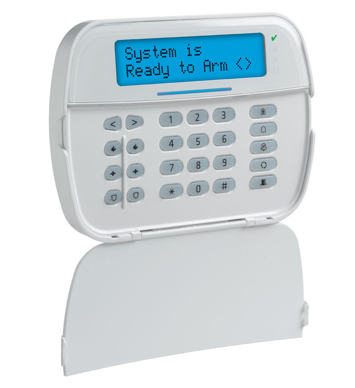 Full Message LCD Hardwired Keypad | DSC Home Security Security