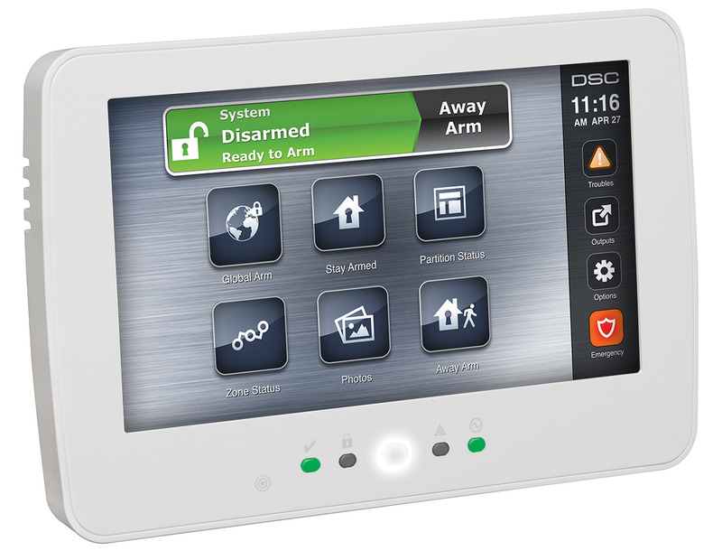 Hard Wired Alarm System | Touchscreen Alarm Keypad With Prox Support Dsc Alarm Systems