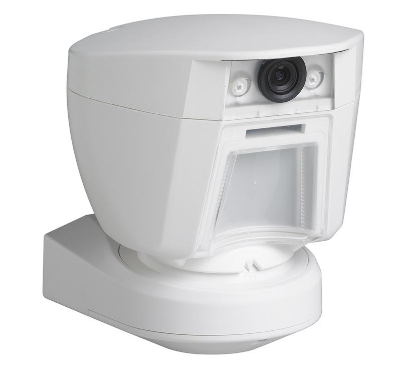 outdoor camera integrated motion detector dsc security. Black Bedroom Furniture Sets. Home Design Ideas