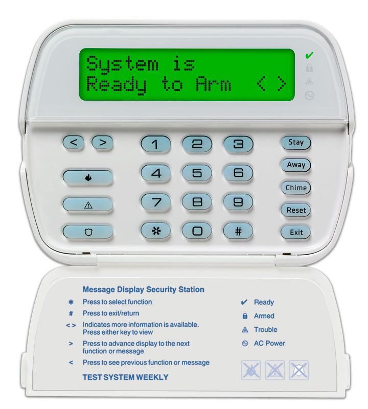 PowerSeries 64-Zone LCD Full-Message Keypad | DSC Security Products
