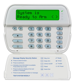 PowerSeries 64-Zone LCD Full-Message Keypad with Built-In Wireless Receiver