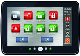 PowerSeries Pro Hardwired Touchscreen Keypad 7 inch with Prox Support in Black or White